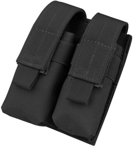Tactical Molle Dual Pistol Magazine Pouch Holster Gun Mag Holder for Hunting