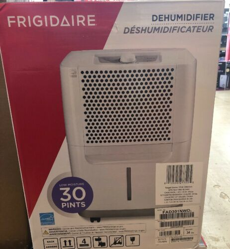 Factory Sealed! Frigidaire 30-Pint Dehumidifier