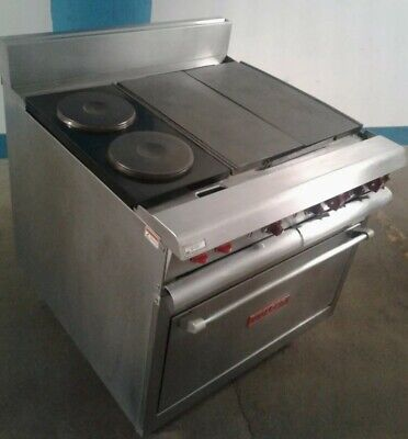 Vulcan Electric Heavy Duty Range Vr6 - Oven French Plates All Purpose Plates