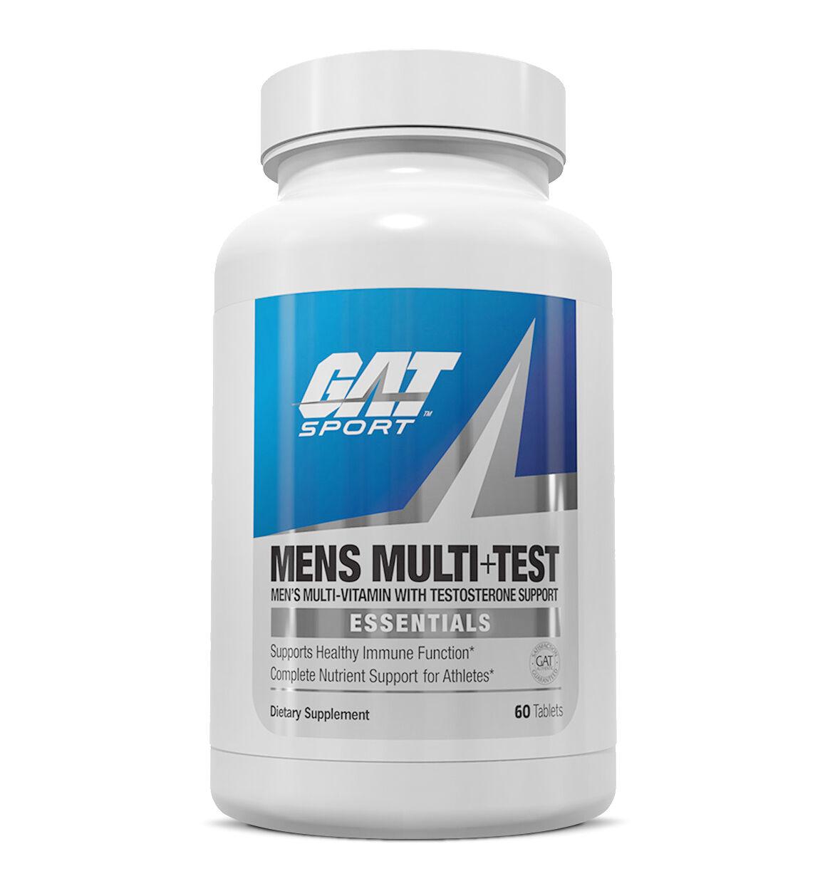 Купить GAT Sport Men's Multi + Test Premium Multivitamin & Testosterone Support 60 Tabs