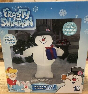 Frosty The Snowman Light Up Inflatable 3.5 Feet Tall Brand New 2018