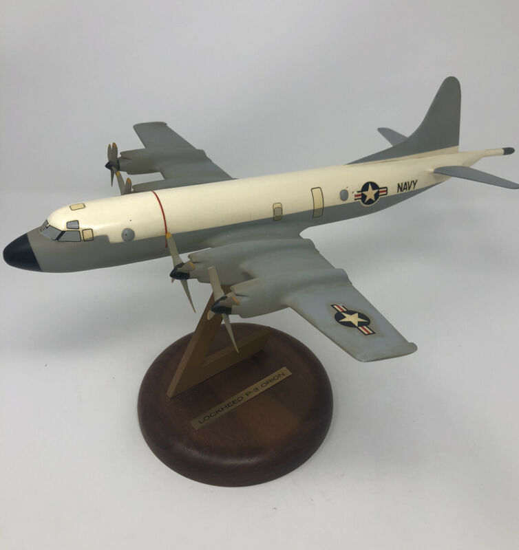VTG 1960s LOCKHEED P-3 ORION DESK DISPLAY MODEL AIRPLANE MILITARY AIRCRAFT