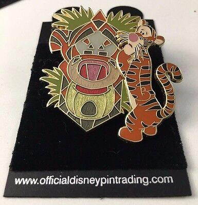 Disney Pin 41228 Disney Character Masks - Tigger New on Card African Tiki 3D