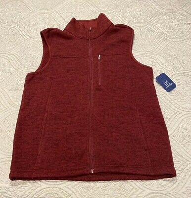 Men's George Stretch Sweater Fleece Vest Medium (38-40) New with Tags