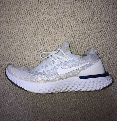 Nike Epic React Flyknit White/Blue Uk 9 - fits 8.5 and 8 - Great Condition