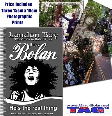 ESSENTIAL MARC BOLAN GUIDE BOOK TO LONDON SITES 60 PAGES BOLAN SHRINE FUNDRAISER
