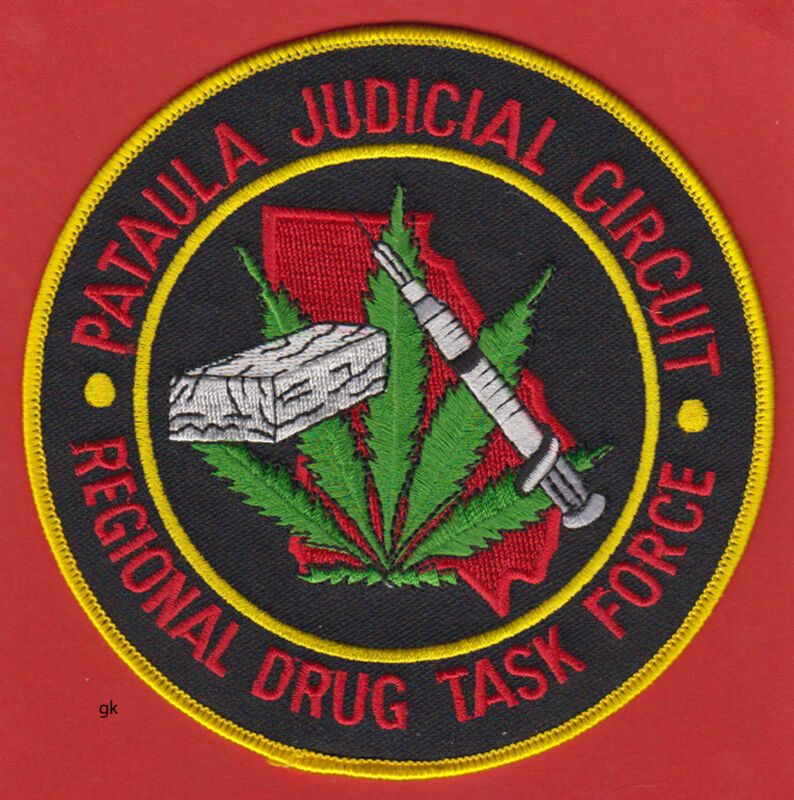 "PATAULA  GEORGIA DRUG TASK FORCE MARIJUANA SHOULDER PATCH  (5"")"