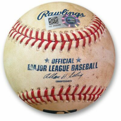 dc3b15c6a80 Clayton Kershaw Game Used Baseball 9 2 2014 - Cabrera Foul Tip Dodgers  HZ350046