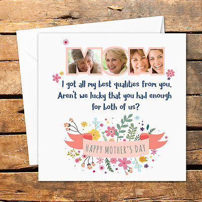 Handmade Personalised Happy Mothers Day Birthday Christmas Card Photo Nan Mom](Happy Mothers Day Photos)