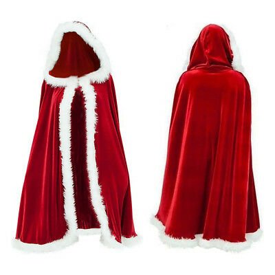 ristmas Santa Claus Cloak / Cape with White Fluffy Trim (Santa Claus Cape)