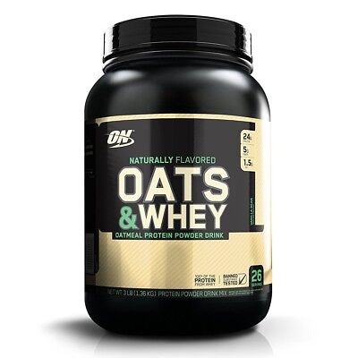 Used, Optimum Nutrition 100% Natural Oats & Whey Protein - 3 lbs VANILLA BEAN for sale  Shipping to India