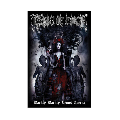 Cradle Of Filth Darkly Darkly Tapestry Cloth Fabric Poster Flag Wall Banner