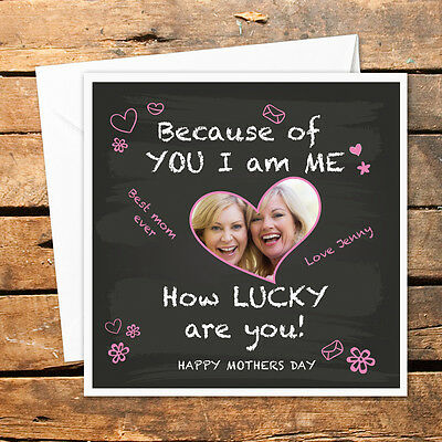 Personalised Happy Mothers Day Photo Card Grandma Mum Mummy Mom Mommy Pink Love](Happy Mothers Day Photos)