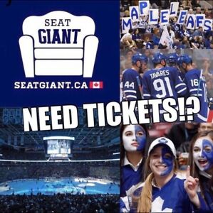 TORONTO MAPLE LEAFS TICKETS TONIGHT FROM $120 CAD!