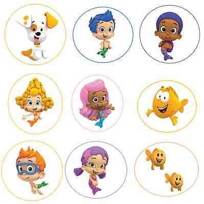 12 BuBble GupPies inspired Stickers,Party,Favors,lollipop labels,characters,tags](Bubble Guppies Stickers)