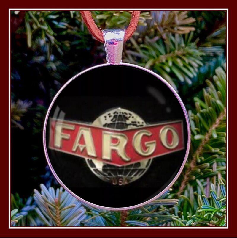 Vintage Fargo Truck Emblem Photo Ornament Gift