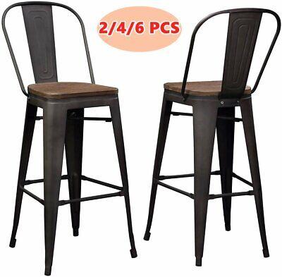 Wood Seat Metal Bar Stools 30
