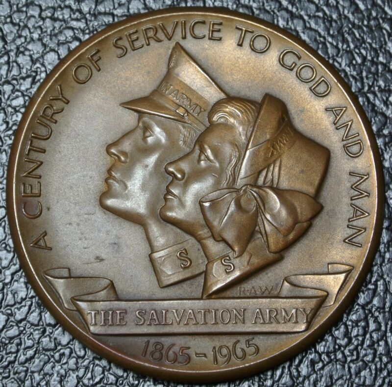 1865-1965 SALVATION ARMY A Century of Service To God and Man BRONZE MEDALLION