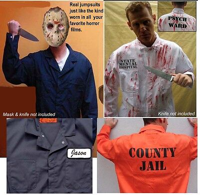 BEST BIG TALL Halloween Costume Jumpsuit  JAIL INMATE PSYCHO MICHAEL MYERS JASON - Best Man Halloween Costume