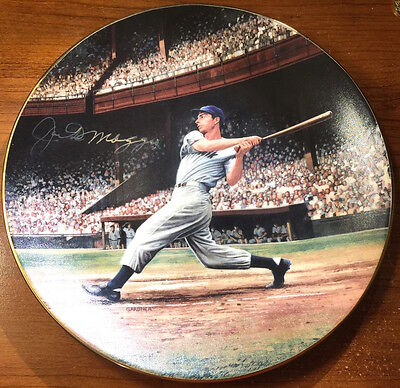 Joe DiMaggio Autographed Signed The Streak Limited Plate by Stephen Gardner