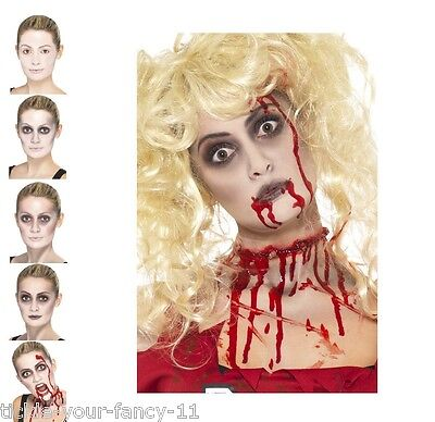 Men's Women's Zombie FX Make-Up Blood Halloween Fancy Dress Costume Face Paint](Halloween Face Paint Women)