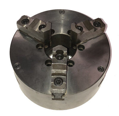 New 10 Bison 3-jaw Self Centering Lathe Chuck A-5 Direct Spindle Mount Top Jaws