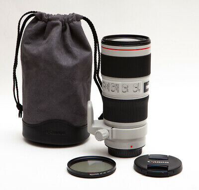 Canon EF 70-200mm 70-200 f/4L f/4 f4L f4 L IS II 2 USM + Tripod Ring & Polarizer
