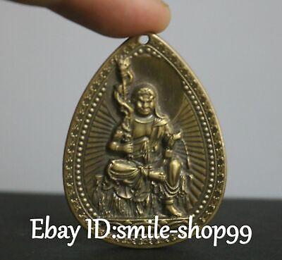 Tibet Bronze Buddhismus Tempel Fudo Myo-o Acalanatha Buddha Anhänger Amulett