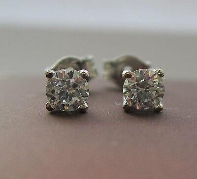 Brand New 1/5ct Diamond 9ct White Gold Stud Earrings £99.99 Freepost