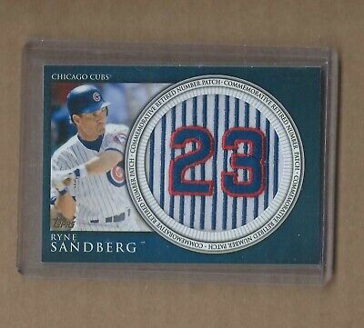 2012 TOPPS RYNE SANDBERG COMMEMORATIVE RETIRED NUMBER PATCH CUBS Chicago Cubs Retired Number