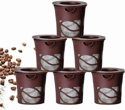 Handy Cups Reusable K-cups Compatible w/ Keurig- 6 Pack. Includes Bonus Scoop Coffee