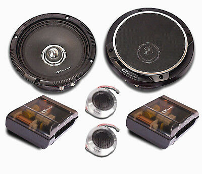 CT Sounds Strato PA 6.5 In Pro Audio Car Audio Full Range Component Speakers Set