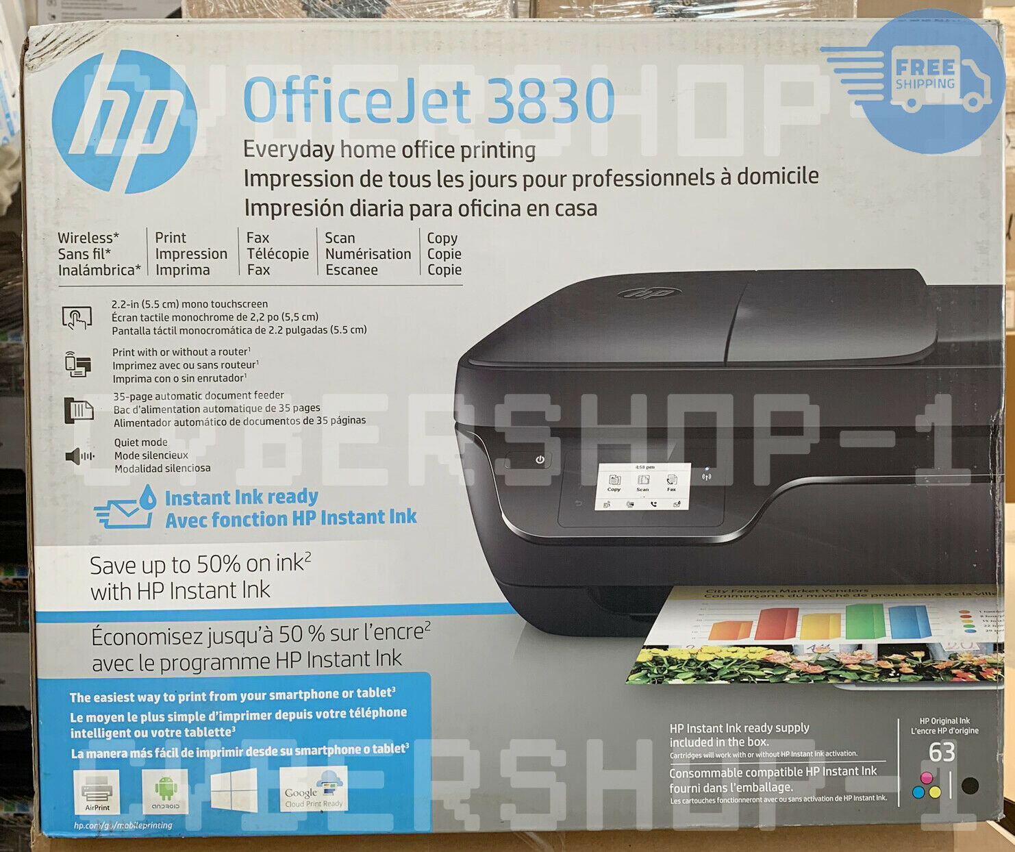 NEW HP OfficeJet 3830 All-in-One Printer