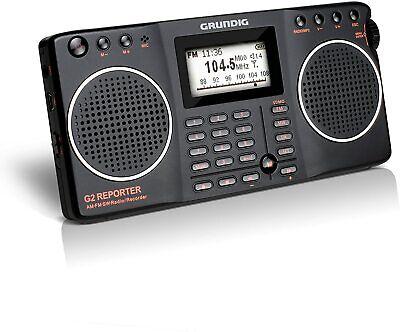 Eton Grundig G2 AM / FM / Shortwave Radio, Recorder - Black,