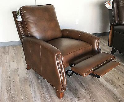New Barcalounger Melrose Recliner Chair Bristol Chocolate Leather Gel (Barcalounger Leather Recliner)
