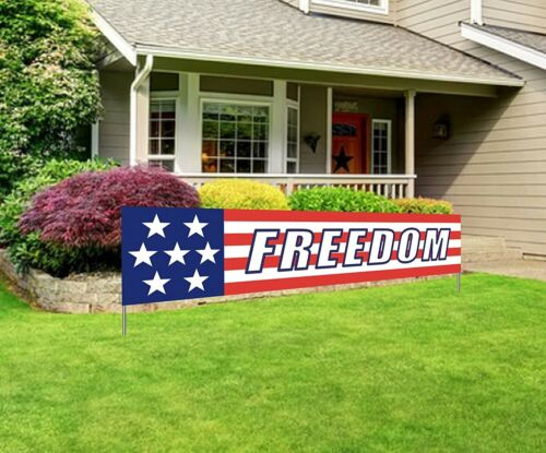 Large Freedom Banner 4th of July Independence Day Party Home Outdoor Decorations