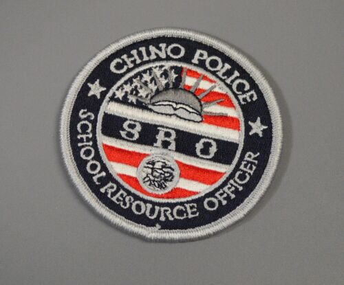 Chino California Police School Resource Officer Patch ++ Mint SRO CA