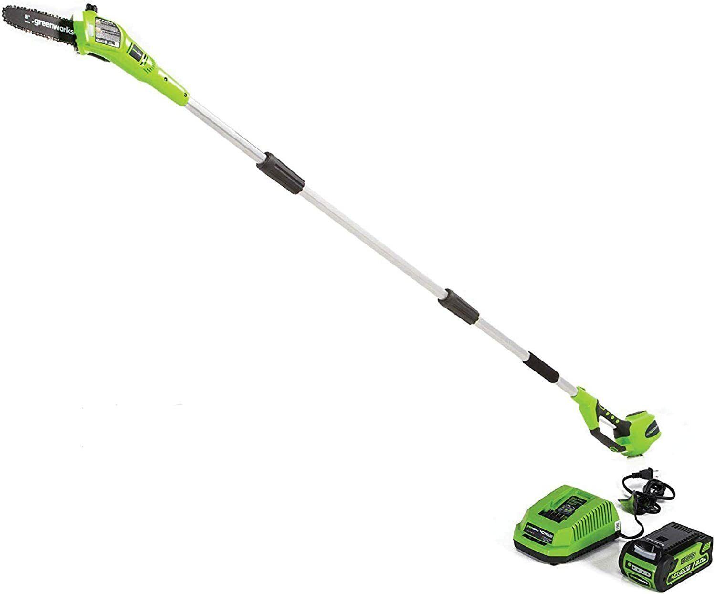 Greenworks 8.5' 40V Cordless Pole Saw 2.0 AH Battery & Charg