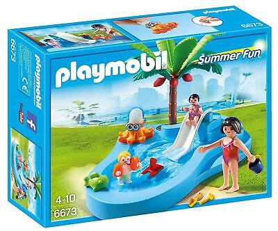 Playmobil 6673 Summer Fun Baby Pool with Slide, Fun for Kids, Collectable