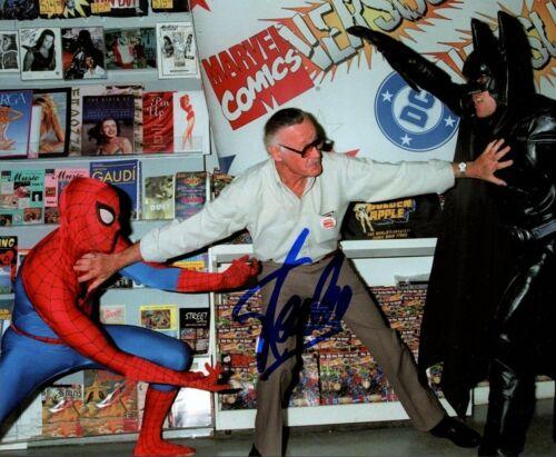 Stan Lee Spider Man Vs Batman Vintage Signed 8x10 Photo Autographed Reprint