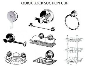 Suction cup soap dish shower bath rack towel rail ring for Jabonera ducha sin tornillos