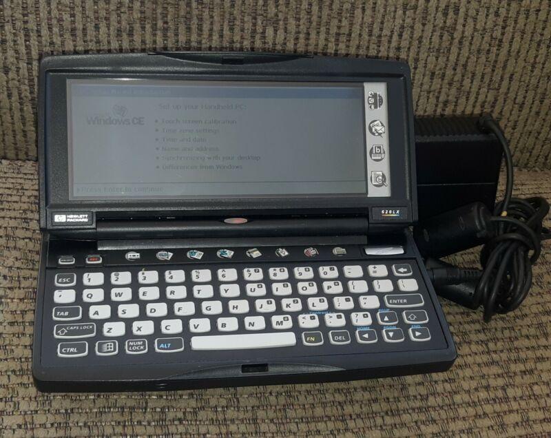 HP 620LX Windows CE Pocket PC PDA w Power Supply WORKS TESTED 80