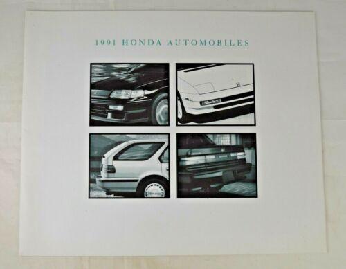 """""""1991 Honda Automobiles""""  Dealer Sales Brochure 18 Pages Near Mint Condition"""