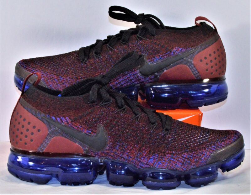 Nike Air VaporMax Flyknit 2.0 Black Team Red Running Shoes Sz 9.5 NEW 942842  006 dcdf35c5f