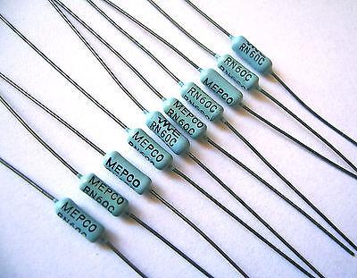 10-pack Mepco Electra Rn60c 301k Ohm 1 12w Precision Metal Film Resistor
