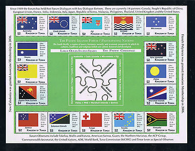 Tonga --- FLAGS --- South Pacific Conference Sheetlet I