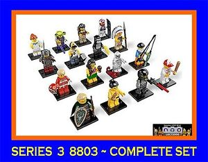 Lego-8803-Minifigures-Series-3-Complete-set-of-16-Figures