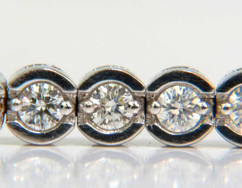█$12,500 VIDEO 4.30CT ROUND DIAMONDS BRACELET G VS A+ FULL CUTS 14KT █