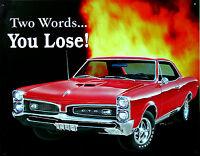 Clásico Pontiac Gto Decoración Póster 70s Us-car Automoción Musclecar Signo De - pontiac - ebay.es