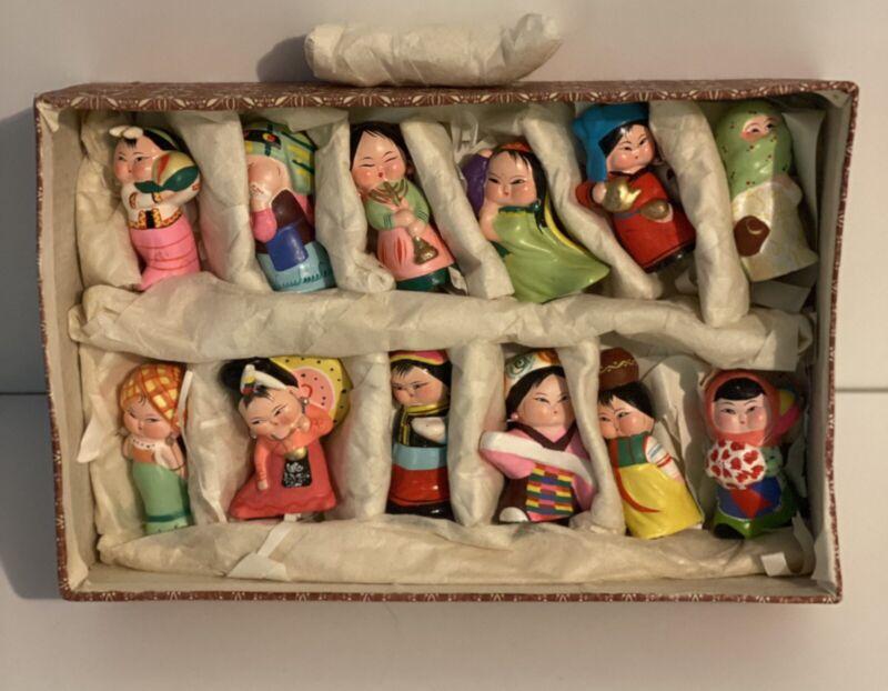 Huishan Clay Figurines Factory Vintage Wuxi Figurines Set Of 12